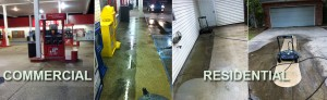 Commercial and Residential Concrete Cleaning by R Brown Services.