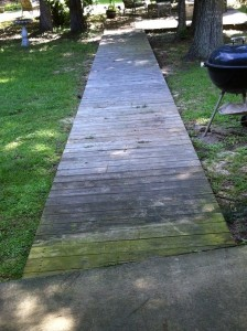 Before Power Washing in Biloxi, MS by R Brown Services.