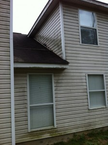 Before Power Washing in Covington, LA by R Brown Services.