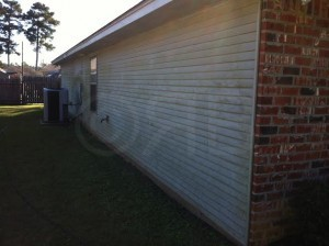 Before Power Washing in Mandeville, LA by R Brown Services.