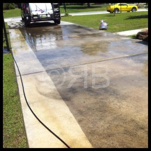 Concrete Cleaning in Covington, LA by R Brown Services.