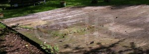 Before Power Washing in Ocean Springs, MS by R Brown Services.