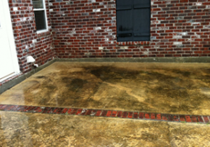 Before Concrete Cleaning in Mandeville, LA by R Brown Services.