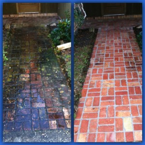 Before and After Power Washing in Slidell, LA by R Brown Services.
