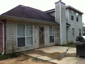 Before Power Washing in Gulfport, MS by R Brown Services.