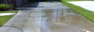 Concrete Cleaning in Long Beach, MS by R Brown Services.