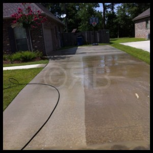 Concrete Cleaning in Gulfport, MS by R Brown Services.