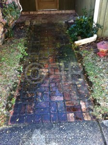 Before Power Washing in Long Beach, MS by R Brown Services.